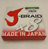 "Daiwa J-Braid Braided CHARTRUESE Line 40lb 330yd .013"" .32mm - JB8U40-300CH"