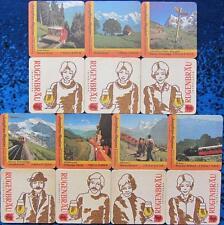 Bierdeckel Serie Sammlung - Schweiz Rugenbräu Interlaken - Jungfrau Region