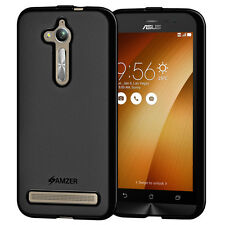 AMZER Pudding Matte TPU Skin Case Back Cover For ASUS ZenFone Go ZB500KL - Black