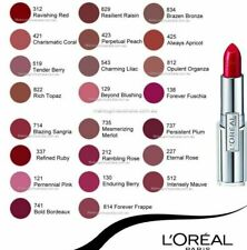 L'Oreal Infallible Lipstick Great Colors & Tip - CHOOSE YOUR SHADE