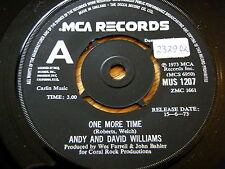 """ANDY & DAVID WILLIAMS - ONE MORE TIME   7"""" VINYL PROMO"""