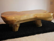 Handmade Less than 60cm Height Teak Rectangle Coffee Tables
