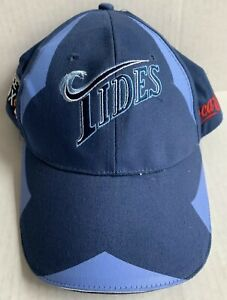 NORFOLK TIDES BLUE MINOR LEAGUE BASEBALL CAP SGA HAT, COCA-COLA, NORFOLK, VA