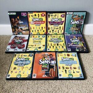 11 X The Sims 2 PC CD-ROM Expansion Packs Vintage Games Bundle RARE Festive +