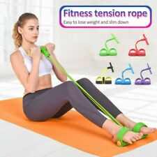 4-Tube Multi Function Fitness Tension Rope Foot Pedal Exercise Training USA