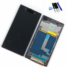 TOUCH SCREEN DISPLAY LCD CON FRAME PER SONY XPERIA Z1 L39H NERO BLACK
