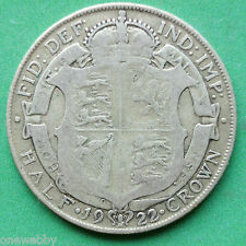 1922 George V Silver Half-Crown SNo34457