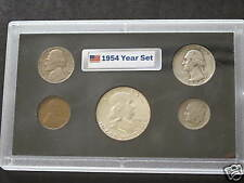 1954 United States Five Coin Silver Year Set