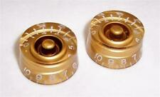 PAIR OF LEFT HANDED SPEED KNOBS FOR GIBSON ETC / GOLD