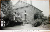 1951 NY Realphoto Postcard: 'Congregational Church - Oriskany Falls, New York'