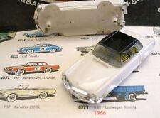 1960s Foreign Faller Mercedes 230SL Slot Car Body Wh/Bk