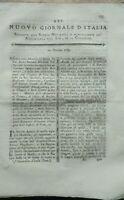 1789 'NUOVO GIORNALE D'ITALIA': SU ULIVI DELLA DALMAZIA; ESPERIMENTI DI FISICA