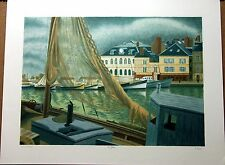 Laurent Marcel Salinas  Signed ORIGINAL Limited Edition Lithograph BOATING
