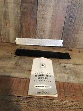 Vintage STERLING 1965 Slide Rule Decimal Trig Log-Log W/ Case & Manual