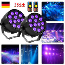 2stk 36w UV Schwarzlicht 12 LEDs Par Can Bühnenbeleuchtung DMX Disco DJ Party DE