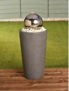BRAND New Stainless Steel Gazing Ball Water Feature Garden Patio Outdoor