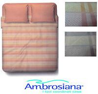 Completo letto, Lenzuola, 100% Cotone AMBROSIANA - 8154. Matrimoniale - 2 piazze