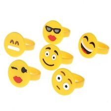 12pcs Funny EMOJI Emoticons Ring Smile Face Rings For Women Girl Wholesale