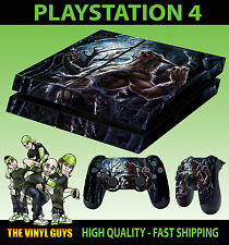 PS4 Skin Werewolf Moon Supernatural Horror Sticker + Pad decals Vinyl LAY FLAT