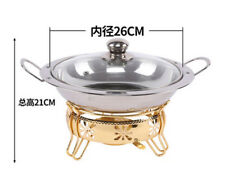 Stainless Steel Buffet Chafer with Glass Lid,26cm Chafing Dish Buffer Warmer