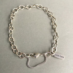 James Avery Forged Link Charm Bracelet 8 3/4 Size XL