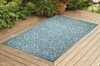 Contemporary Indoor / Outdoor Sisal Area Rug for Garage, Garden Kitchen | Turq.
