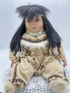 Rare Vintage Indian Porcelain Doll 'Running Bear' Limited Edition 148/2500