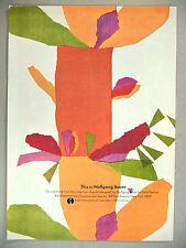 Wolgang Bauer Textiles PRINT AD - 1969 ~ Knoll International Furniture