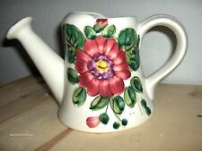 Ceramic Floral Plant Watering Pitcher - Hand Painted in Italy for FTD EXCELLENT