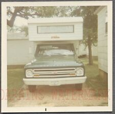 Vintage Photo 1967 Chevrolet Chevy Pickup Truck w/ Camper 722934