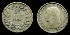 Netherlands - 25 Cent 1894