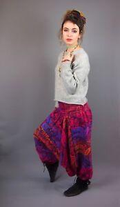 Flower Fleece Patterned Boho Festival Harem Afgani   Pants Trousers Yoga