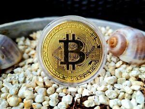 BITCOIN Münze Gold & Silber Sammlermünze BTC Krypto Währung Medaille