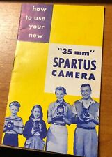 1950'S 35 Mm Spartus Camera Instruction Manual