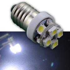 4Pcs 12V DC E10 1447 Style Screw 3528 LED 8SMD White LED Light Lamp Bulb