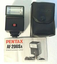 Pentax AF200SA Shoe Mounted Camera Flash, Case & Instructions