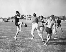 Vtg 1920's - 1930's BETA PHI Frat Photo Boys Football Practice Gay Interest
