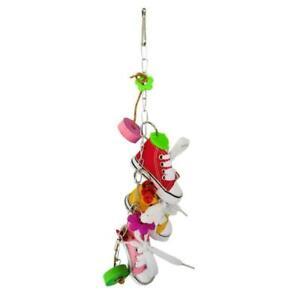 Mini Flower Pacifier Canvas Shoes Sneakers Parrot Bird Toys Cage Decoration H