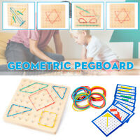 Kids Wooden Geoboard Array Block Mathematical Geo Board Educational Toy Gift