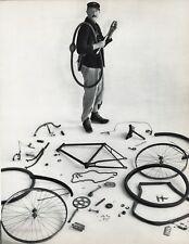 1955 Vintage JACQUES TATI Film Movie BICYCLE France Art 16x20 By ROBERT DOISNEAU