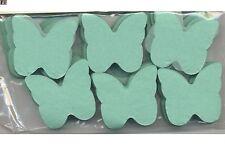 Confettis papillons en papier de soie ignifugé vert d'eau 50 grammes mariage