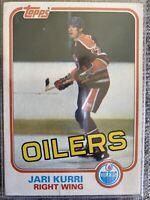 Jari Kurri Oilers 1981-82 Topps Rookie Card