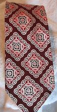 Vintage Rhodin 100% Acetate Rn 31246 Mens Tie Red Black Silver colors