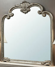 "Palazzo Ornate Silver Large Rectangle Overmantle Vintage Wall Mirror 41"" X 45"""