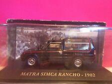 SUPERBE MATRA-SIMCA RANCHO 1982 1/43 NEUF BOITE SOUS BLISTER Q5