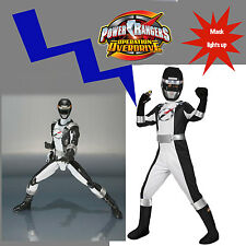 Power Rangers Operation Overdrive Black Ranger Boys Costume 4-6 y Silver Lightup
