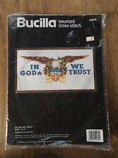 Bucilla In God We Trust Cross Stitch Kit 40474 America USA Patriotic Eagle