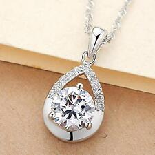 Hot China Wholesale Costume jewelry 925 Silver Natural Crystal Droplets Necklace