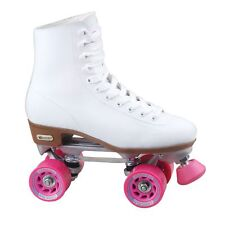 Roller Skates Womens Rink Type Boots Indoor Outdoor Sport White Pink Size 6