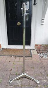 STEEL ALUMINIUM NICKLE TRI BASE TRIPOD STRAND STAND 23 123 THEATRE LIGHTS LAMPS